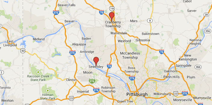 Map - Dance Classes Dance Studio in Pittsburgh PA